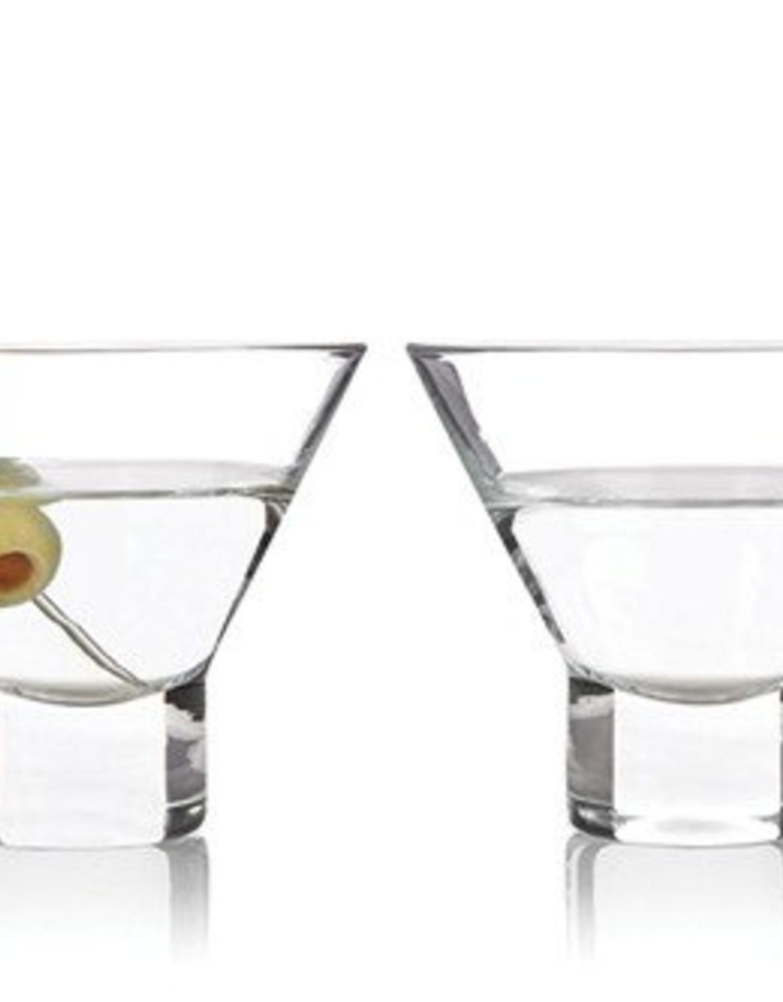 True Brands Stemless Martini Glass