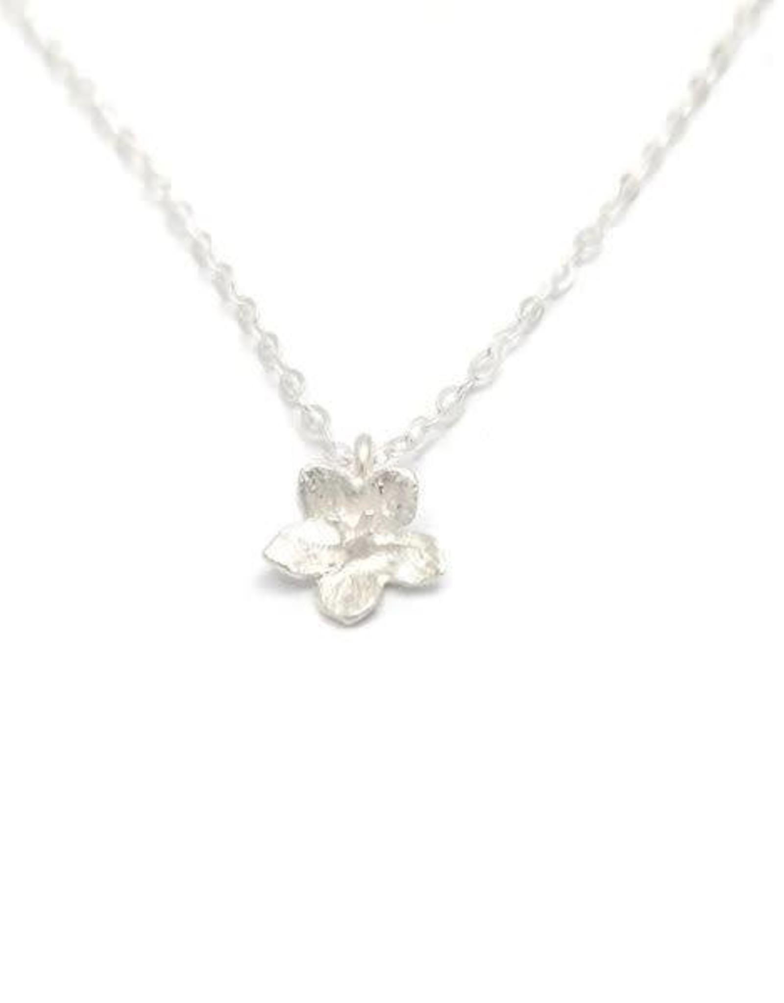 Sterling Tiny Flower Necklace