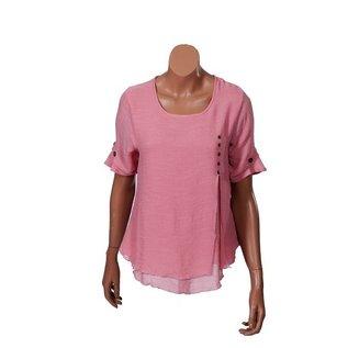 Passions d'ailleurs S07d Sort Shirt, Short  Sleeves (3 Buttons)