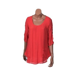 Passions d'ailleurs S13g  Tunic (Loose at Waist), 3/4 Sleeves Split Over