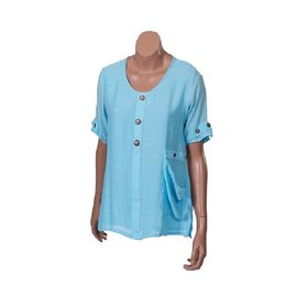 Passions d'ailleurs S14d Shirt with a Pocket, Short Sleeves