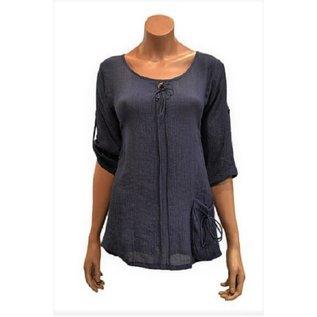 Passions d'ailleurs S18e Mid-Long Shirt, Exterior Pocket, 3/4 'Safari' Sleeves