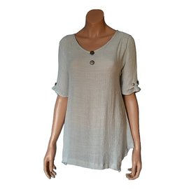 Passions d'ailleurs S19d  Tunic (Loose at waist), Short  Sleeves