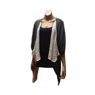 Passions d'ailleurs S29 Reversibe Vest, Loose at Waist, One Size Only,3/4 Plain Sleeves