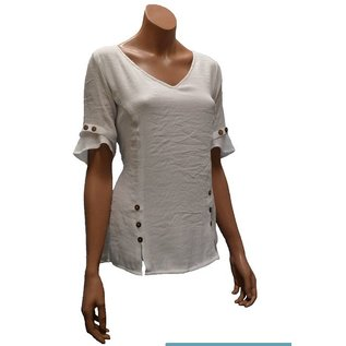 Passions d'ailleurs S31d Short Shirt Princess Cut, Short Sleeves with Buttons