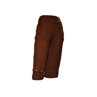 Passions d'ailleurs P04 Ankle Pants with 2 Pockets, Straight Legs
