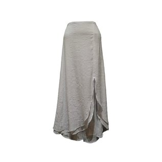 Passions d'ailleurs SK03  Mid-Long Skirt, Split in Front from Bottom up to Knee