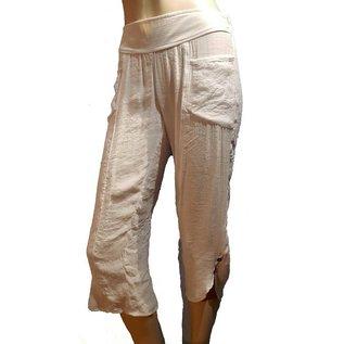 Passions d'ailleurs P06 Pantalon  Corsaire avec Poches, Jambes Étroites