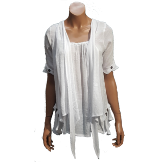 S03d Shirt A Line, Attached in Front, Short Sleeves (3 Buttons)