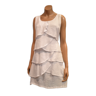Passions d'ailleurs D01 Dress with 4 Frils in Front,  no Sleeve
