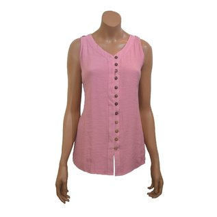 Passions d'ailleurs S20 Mi Long Shirt Attached in Front with Buttons, no Sleeve