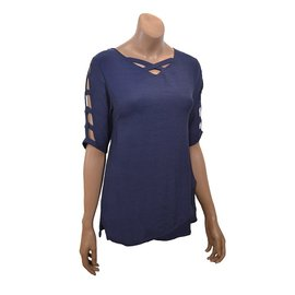 Passions d'ailleurs S09b Tunic, V Neck, 3/4 Sleeves