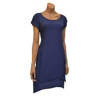 Passions d'ailleurs D07a Dress A Line, 2 Pockets, Short Sleeves