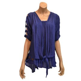 S03b Mid-Long Shirt A Line, 3/4 Sleeves