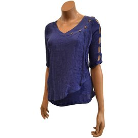 Passions d'ailleurs S06b Shirt V Neck, 3/4 Sleeves