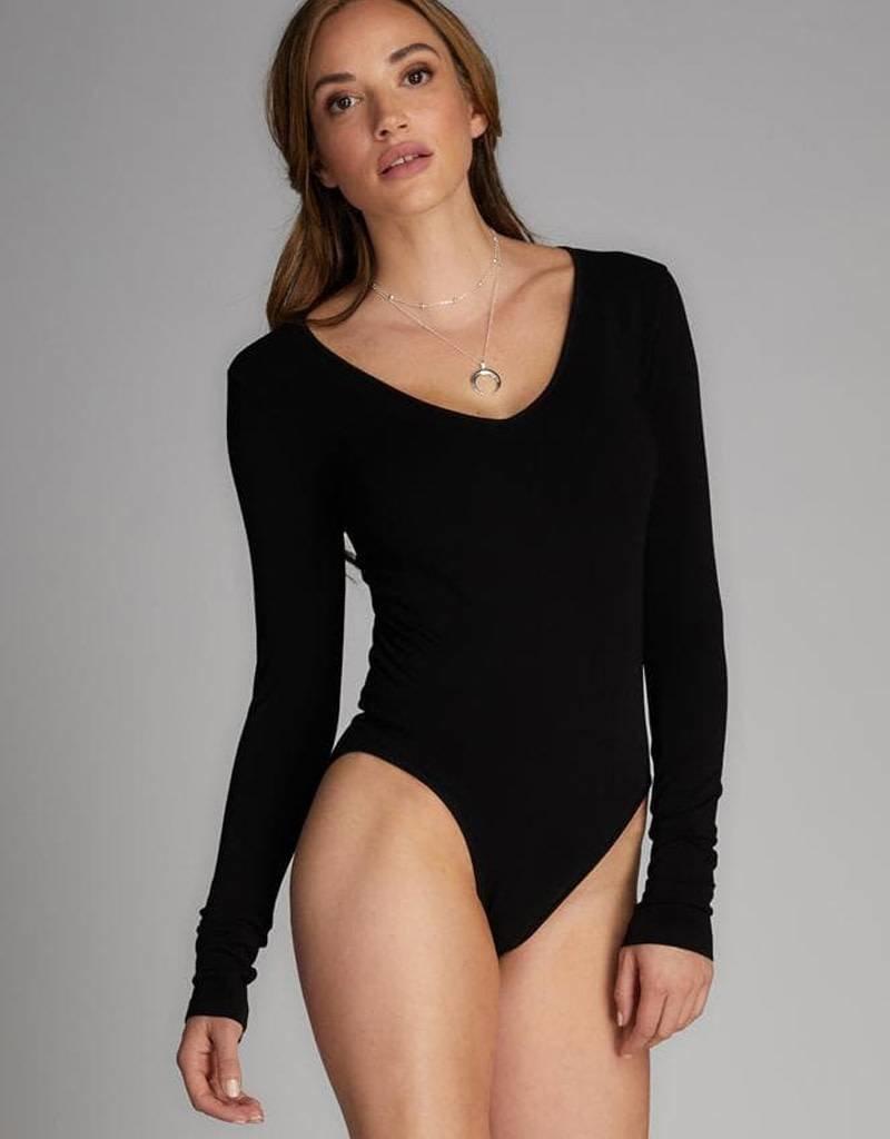 Cest Moi Bamboo V Neck L/S Body Suit