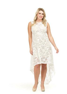 Papillon White Lace Hi-lo
