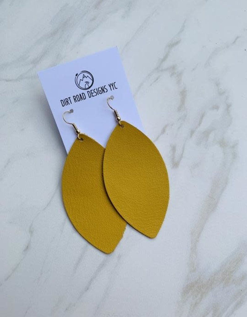 Dirt Road Designs Dirt Road Leather Earring - Large