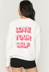 Spiritual Gangster Love Self Classic Crew Sweatshirt