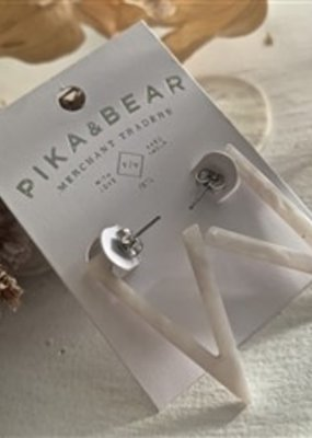 Pika and Bear Flying V Earrings