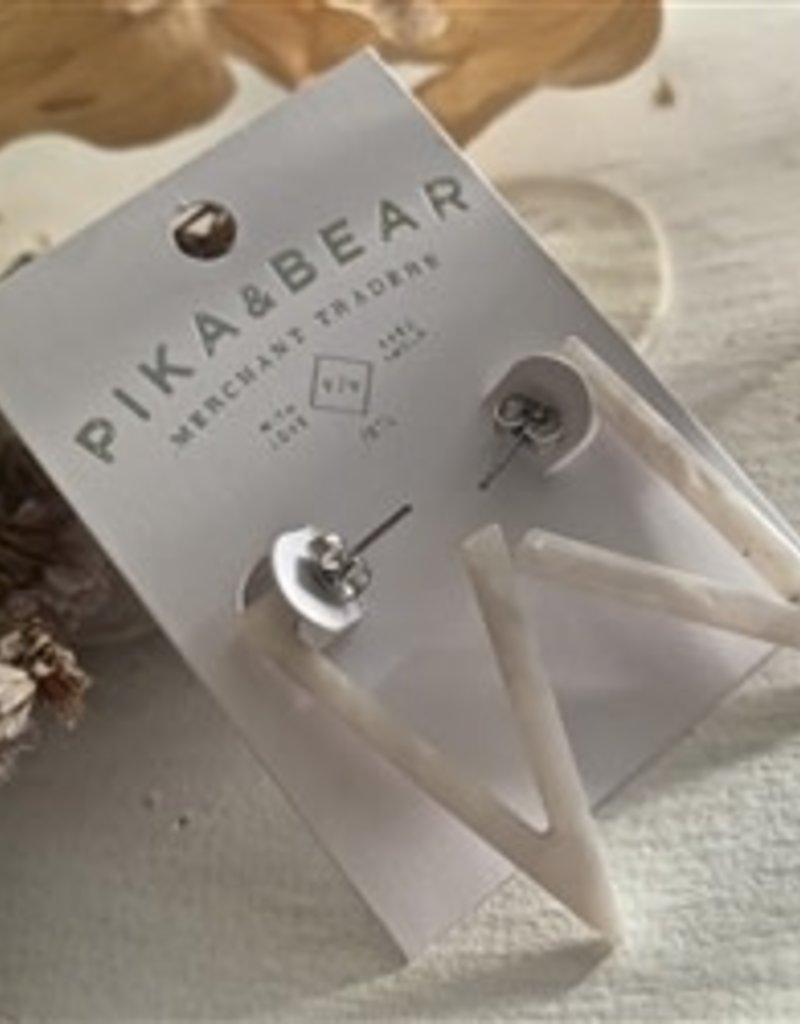 Pika and Bear Flying V Earrings