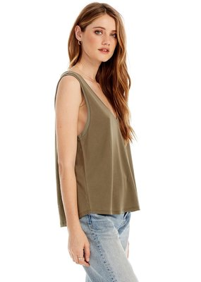 Saltwater Luxe Basic V-Neck Muscle Tank