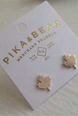 Pika and Bear Maple Leaf  Gold