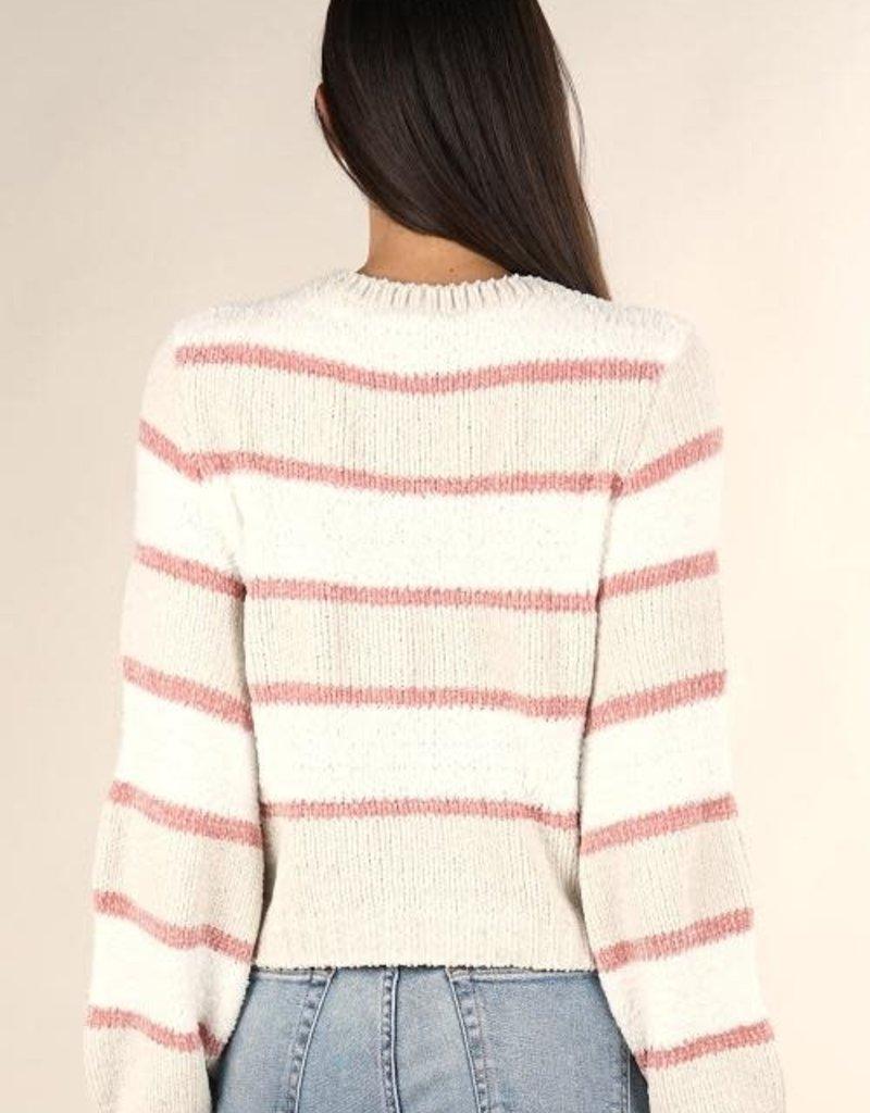 Love Stitch Crew Neck Pullover Sweater