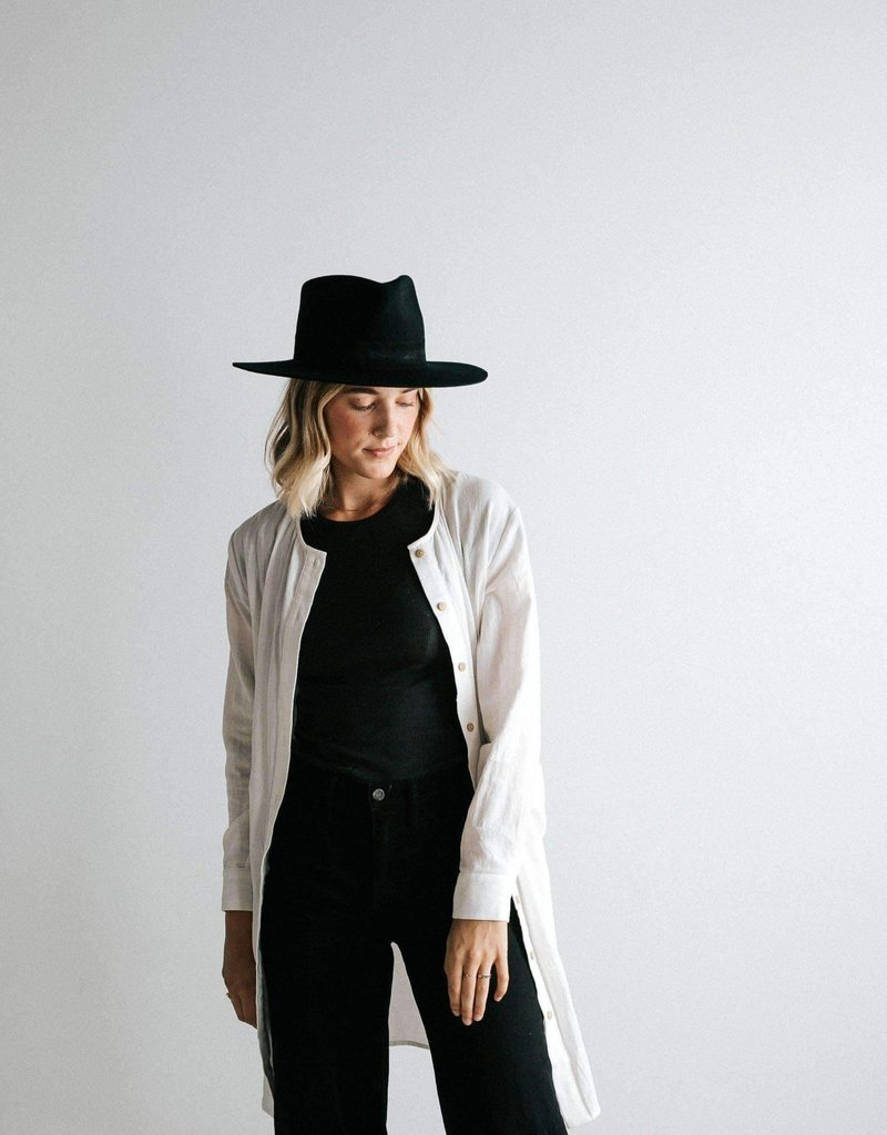 Gigipip Miller Fedora - Black with Black Band