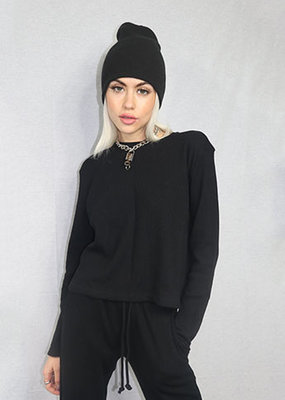 RD Style Waffle Top Long Sleeve