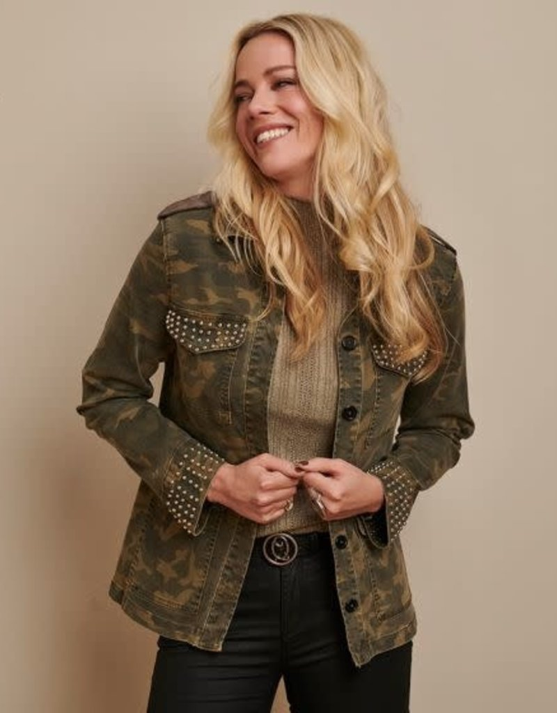 Esqualo Studded Military Coat