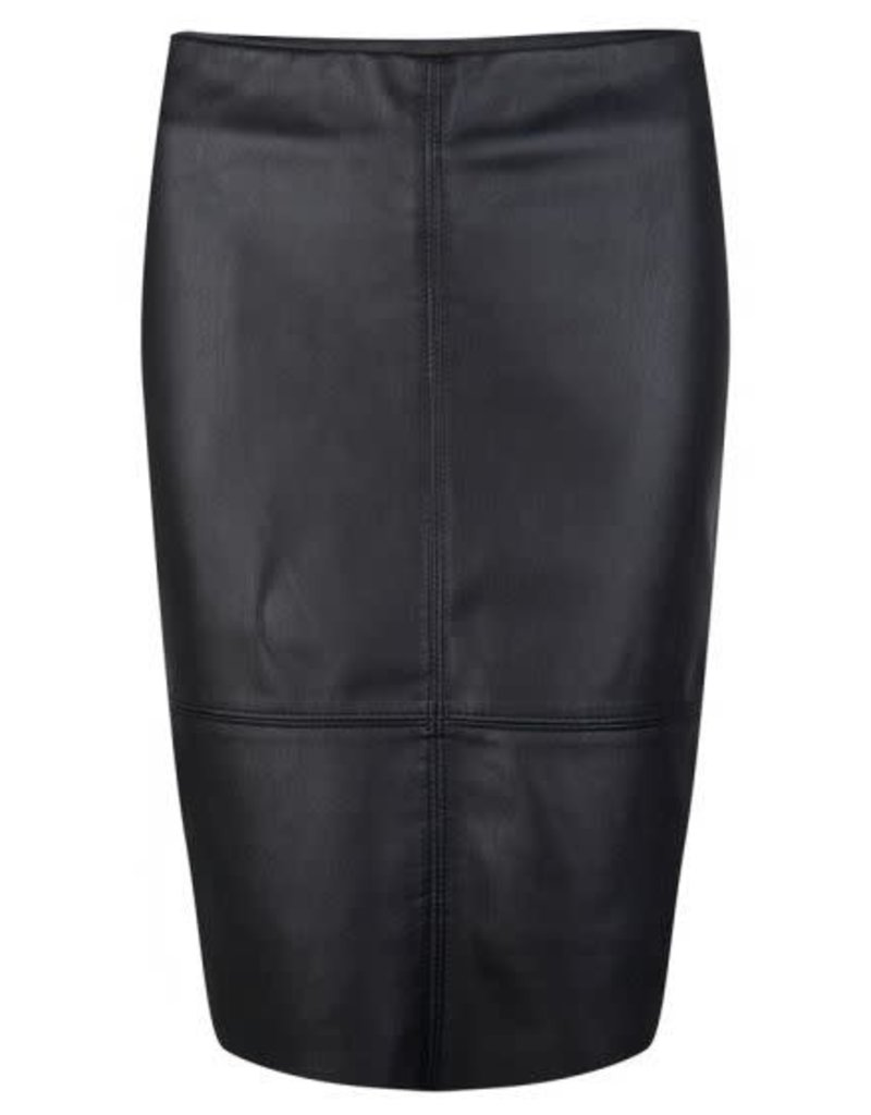 Esqualo Leather Pencil Skirt