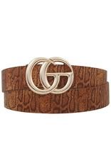 CG Belt Cognac Snake