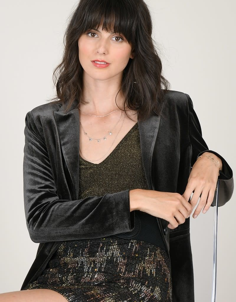 Molly Bracken Velvet Blazer
