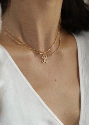 """Lisbeth 18"""" Curb Chain Initial"""