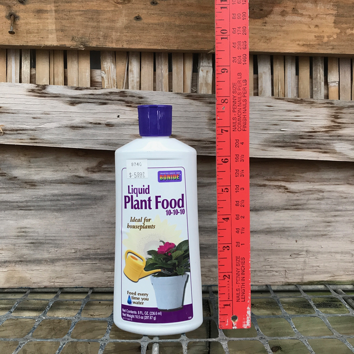 8oz Liquid Houseplant Food 10-10-10 Bonide