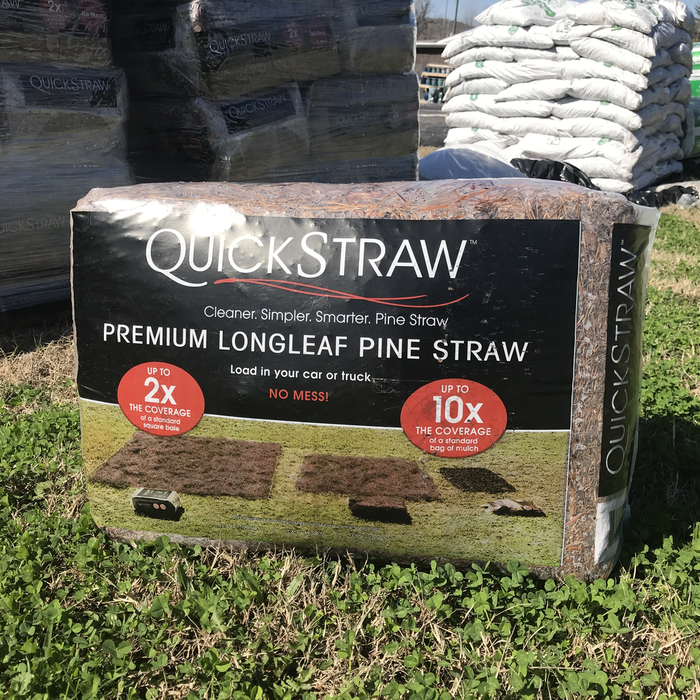Pine Straw Packaged Bale/Mulch Quickstraw Longleaf
