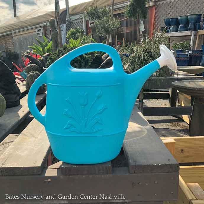 2 Gal Watering Can Caribbean Blue Plastic Union