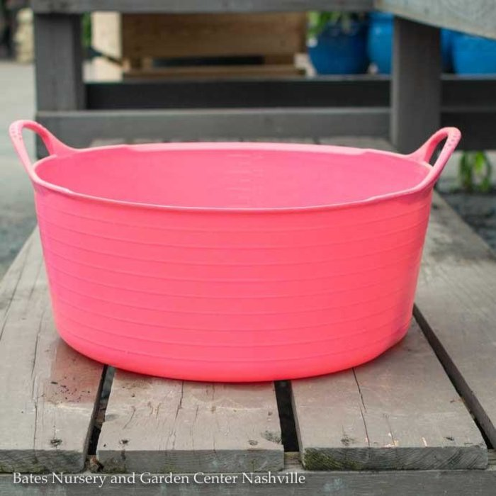3.9Gal/15L Tubtrug Flexible Small Shallow Bucket - Pink