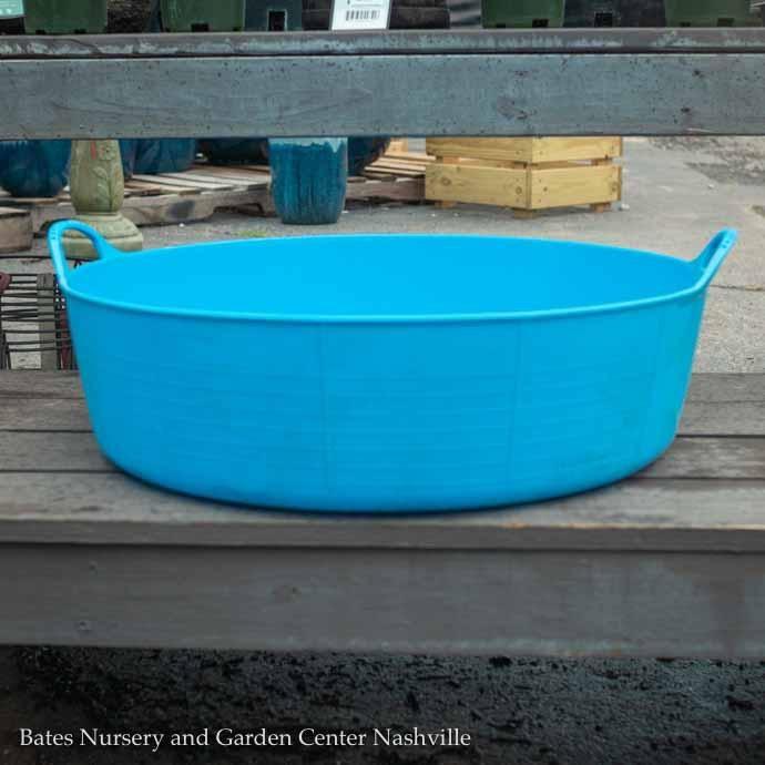 9.2Gal/35L Tubtrug Flexible Large Shallow Bucket - Blue