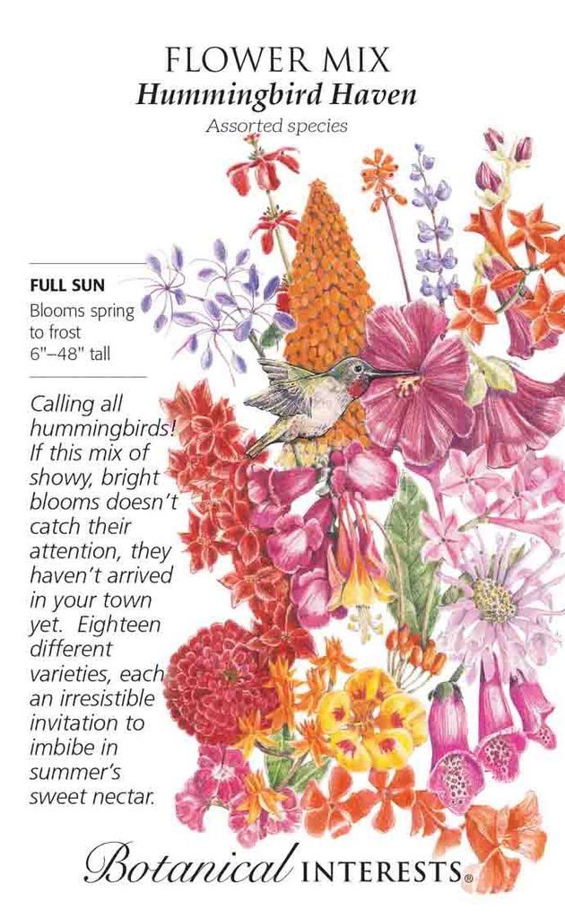 Seed Flower Mix Hummingbird Haven - Assorted species - Lrg Pkt