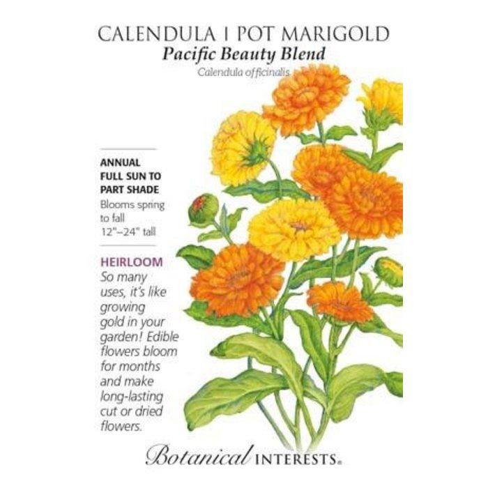 Seed Calendula/Pot Marigold Pacific Beauty Heirloom - Calendula officinalis