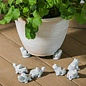 "Pot Feet 3"" Bird or Frog or Turtle Set of 3"