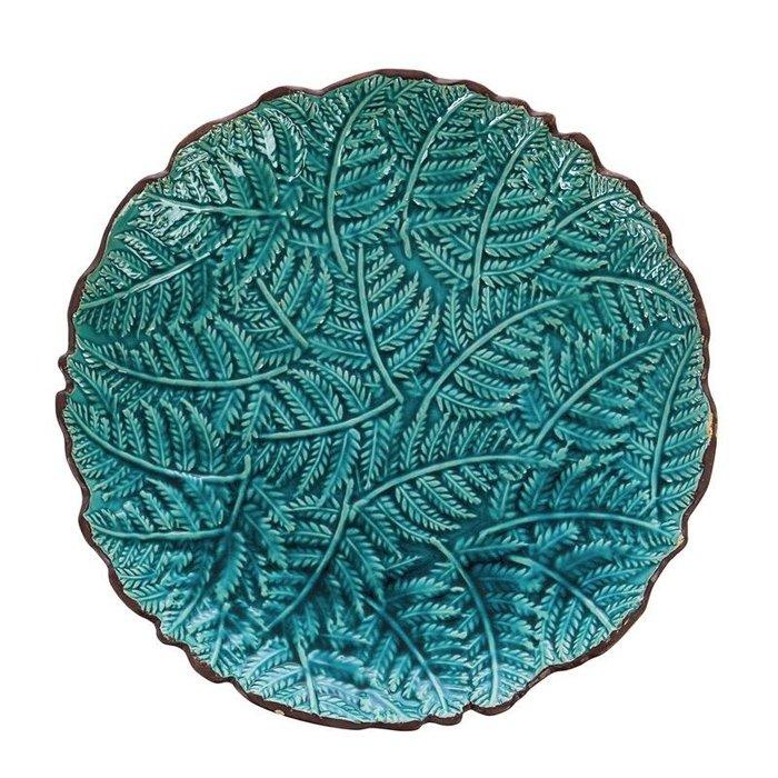 Birdbath Top w/Stand Leaves Food Grade Ceramic 16x22
