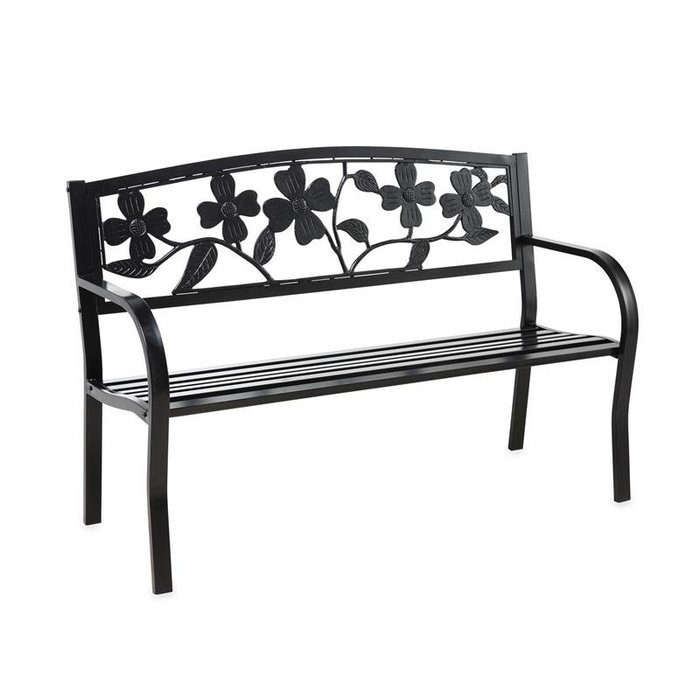 Bench Dogwood Black Metal