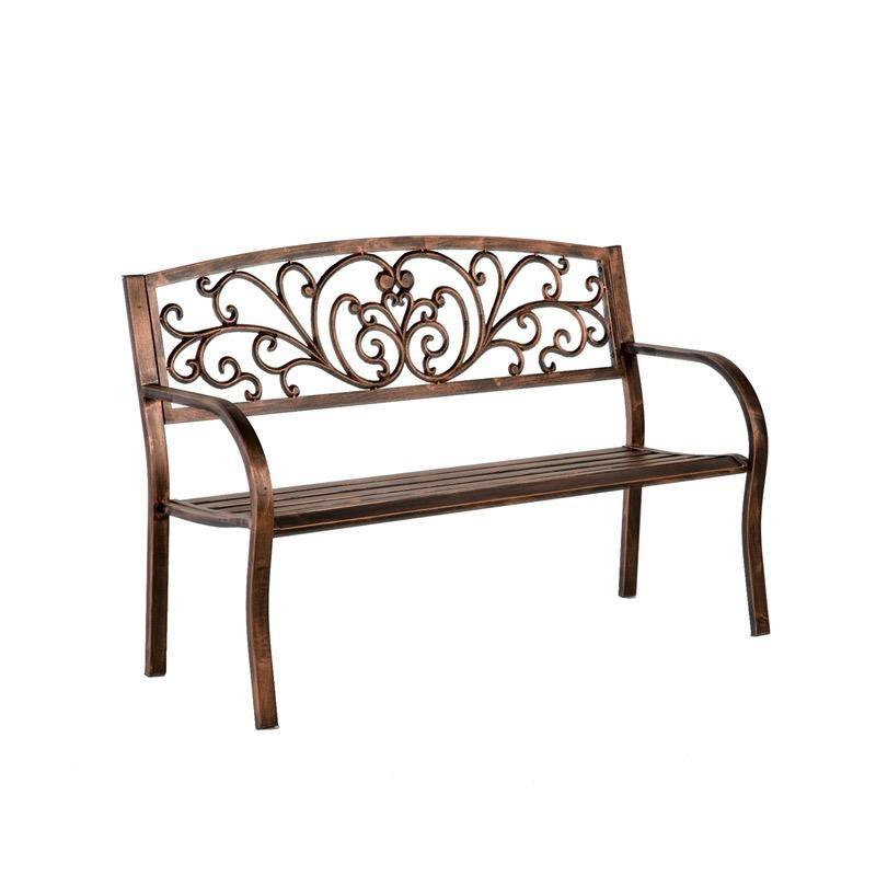 Bench Blooming Garden / Curly Coppertina Metal