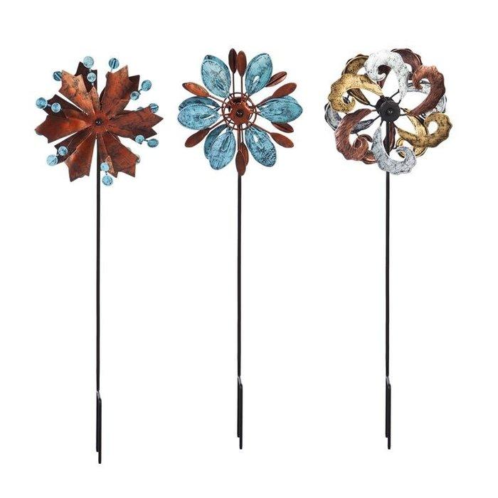 """Wind Spinner / Garden Stake Mini Naturals 18""""h Asst"""