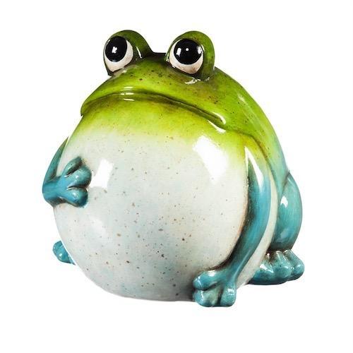 "Statuary Portly Frog 8"" Ceramic"