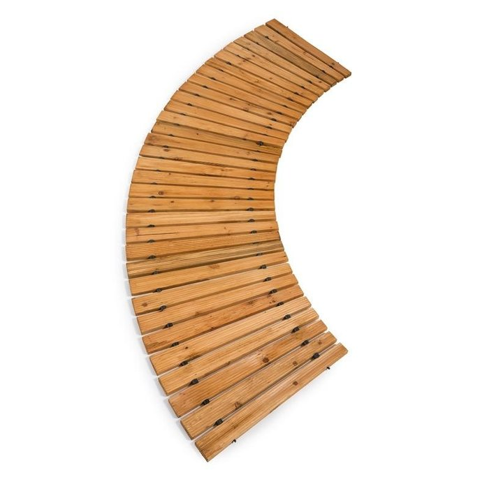 6' Walkway / Pathway Roll Out Curved Cedar