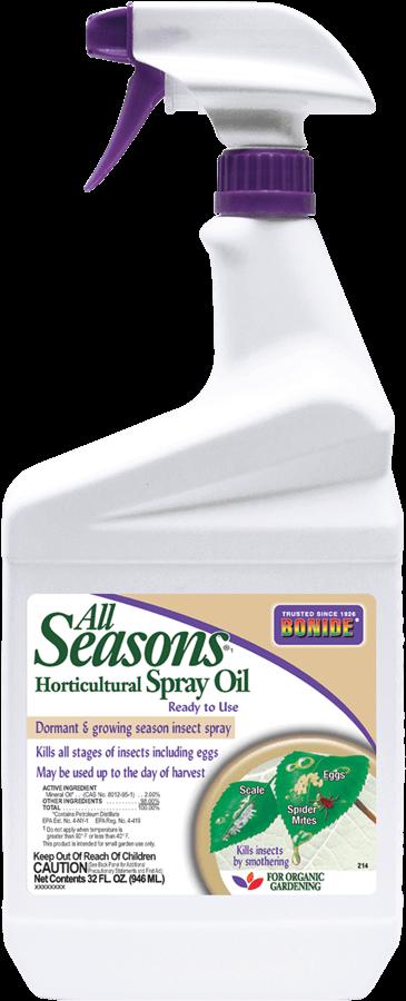 1Qt All Seasons Horticultural & Dormant Oil Spray RTU Insecticide Bonide